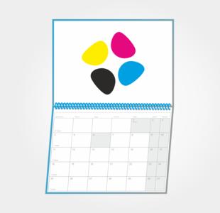 Kalendarze wieloplanszowe spiralowane - autorskie